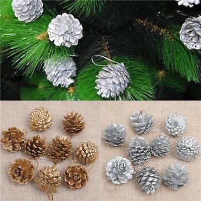 Christmas Pine Cones Wood Baubles Tree Decoration Crafts For Home Party Ornament ()