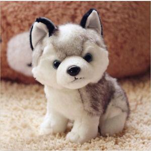 Plush Doll Soft Toy Stuffed Animal Cute Husky Dog Baby Kids Toys Gift 18cm 7