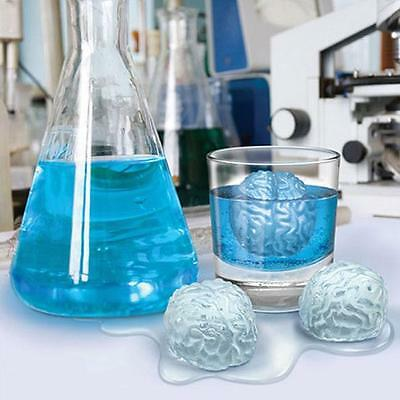 Brain Shaped Freeze Ice Cube Tray Cool Drink Party Dining Halloween Bar Mould KI](Cool Halloween Party Drinks)