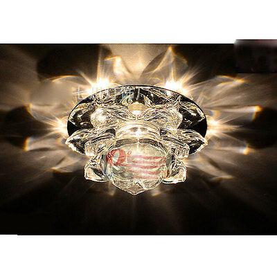 10 Licht Kronleuchter (10cm 5W LED Decke Licht-Kristall kronleuchter Beleuchtung Gang lampe 1041HC)