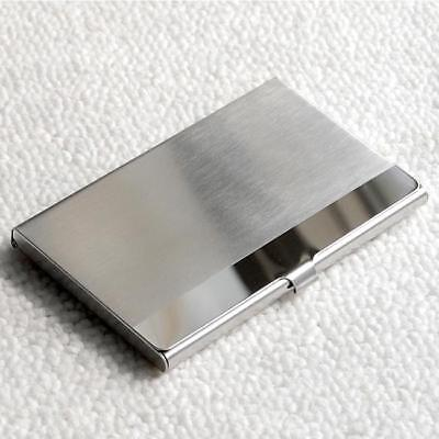 Pocket Stainless Steelmetal Business Card Holder Case Id Credit Wallet Silver Q