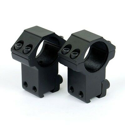 High Profile 1 inch Scope Rings for Dovetail 11mm Rail