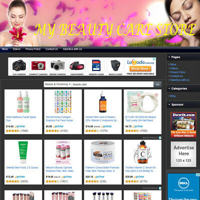 Beauty Care Store - Simple Ready To Go Affiliate Business Website For Sale