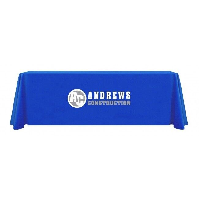 XPressScan Thermal Transfer Customized Printed Table Throws 8ft
