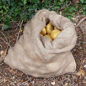 Jute Hessian Sacks-25kg Potato Storage Sacks (pk 5)
