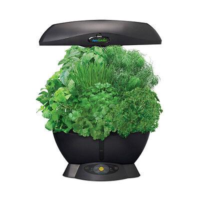 Miracle-Gro 901011-1200 AeroGarden 6 Soil Free Compact Indoor Garden, Black