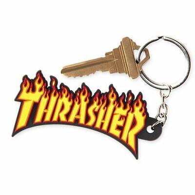 THRASHER Skateboard Magazine Flame Logo Keychain AUTHENTIC