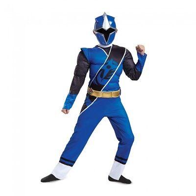 Disguise Blau Power Ranger Ninja Stahl Muskel Kind Jungen Halloween Kostüm 51886