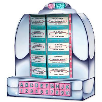 Tabletop Cardboard Jukebox 13 Inch 1950s Sock Hop Diner Party - 1950 Party Decorations
