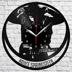 Bruce Springsteen Vinyl Record Wall Clock Art Decor Original Gift 12'' 30cm 2220