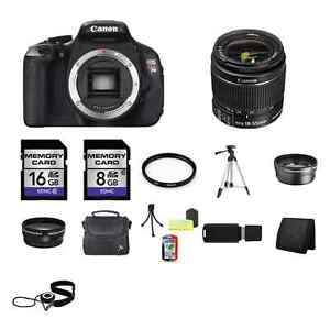 Canon EOS Rebel T3i Digital SLR Camera w/18-55mm Lens 24GB Full Kit