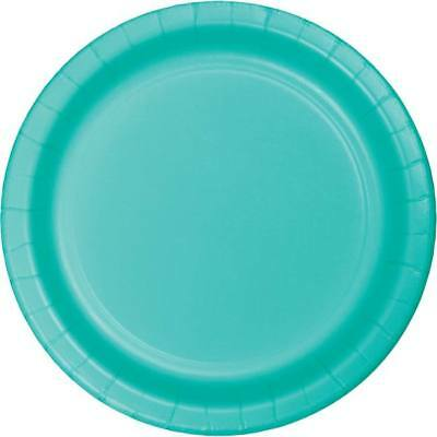 Teal 7 Inch Paper Plates 24 Per Pack