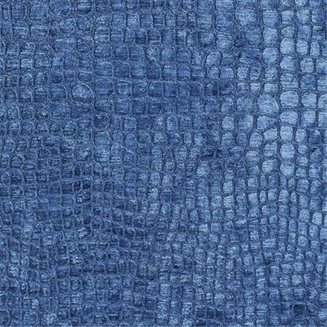 Designer Fabrics K0151S 54 in. Wide Blue Textured Alligator Shiny Woven Velve...
