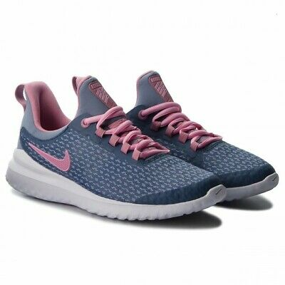 NEW $70 NIKE GIRLS RENEW RIVAL RUNNING SHOES 4Y 4.5Y 5Y 4 4.5 5 YOUTH PINK GRAY