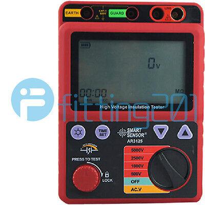 1pcs New Smart Sensor Ar3125 5000v High Voltage Insulation Resistance Tester