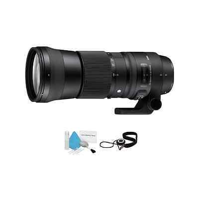 Sigma 150-600mm f/5-6.3 DG OS HSM Contemporary Lens for Canon EF Bundle