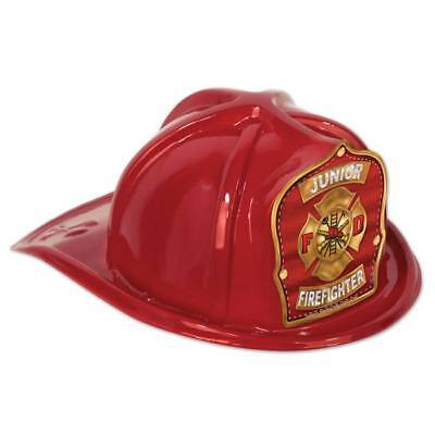 Jr Firefighter Plastic Hat Red Child Size Firefighter Birthday Party Favors](Firefighter Party Hats)