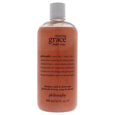Amazing Grace Ballet Rose Shampoo Bath & Shower Gel, Philoso