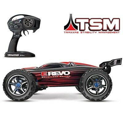 Traxxas 56086-4 E-Revo Brushless RTR RC 4WD Monster Truck RED w/TSM Stability