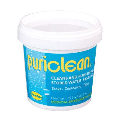 Puriclean Caravan Water Tank System Cleaner Purifier 100g. Sterilises and clean