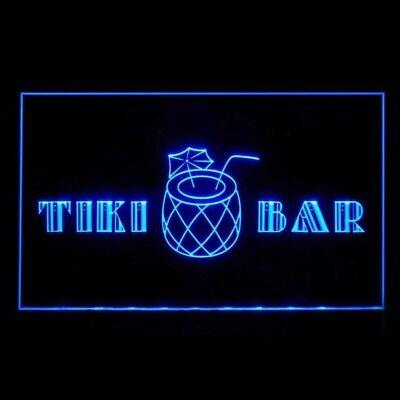 170169 Tiki Bar Exotically-themed Summer Party Hawaii Display LED Light Sign - Neon Light Theme