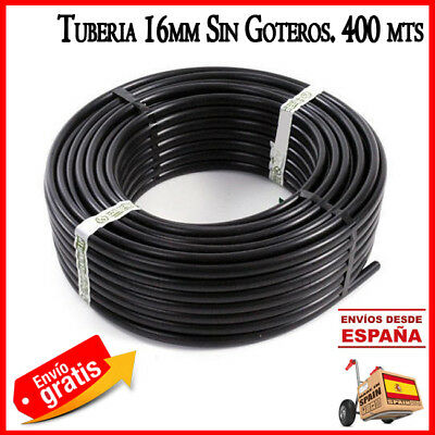 Pipe 16mm Tube Drip Polythene Irrigation Without Dripper 400 MT Agricola 16 MM