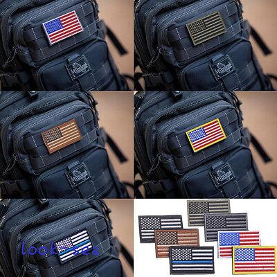 7 Colors AMERICAN FLAG USA Flag Embroidered  Armband Applique Patch (Applique Embroidered Flag)