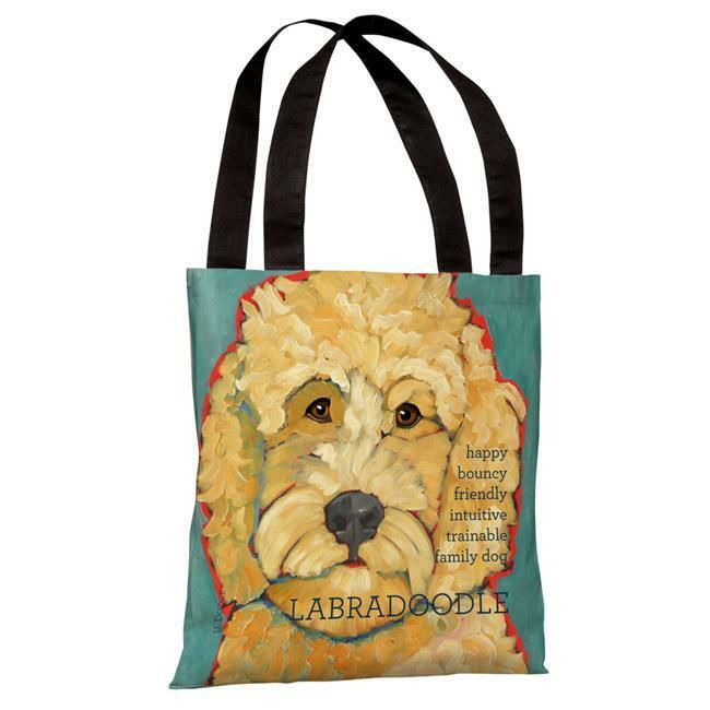 One Bella Casa 70149TT18P 18 in. Labradoodle 1 Polyester Tote Bag by Ursula D...