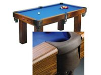 6ft Pool Table with 2 Cues and 1 Set Of balls.