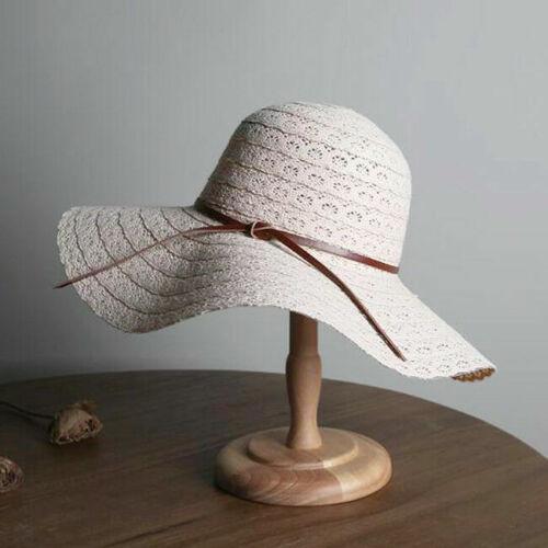 Damen Sonnenhut Sommer Hüte Strand Strohhut Frauen Schlapphut Sonnenschutz Mode