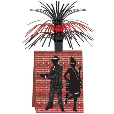 Gangster Red Black Centerpiece Roaring 20s Party Supplies and Table Decoration - Roaring 20s Centerpieces