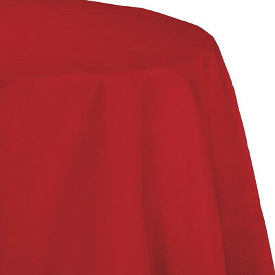 Red 2/Ply Paper-Poly Round Tablecloth - Paper Tablecloths Round
