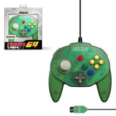Mando Nintendo 64 Tribute64 verde Nuevo (tipo Hori Mini pad)