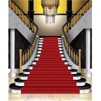 Grand Staircase Insta Wall Mural Photo Backdrop Red Carpet Awards VIP - Hollywood Red Carpet Backdrop