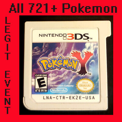 Pokemon Y - Loaded With All 721 + 120+ Legit Event Pokemon Unlocked (3DS)