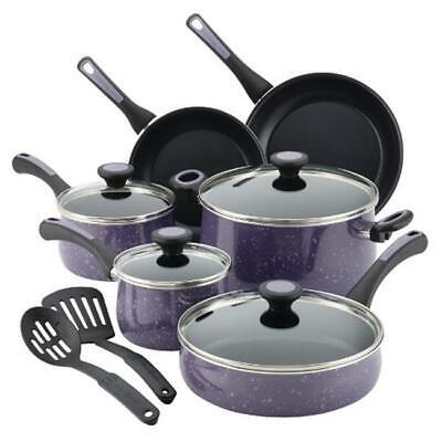 Paula Deen Riverbend Aluminum Nonstick Cookware Set, 12-Piec