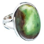Green Jade Sterling Silver Ring