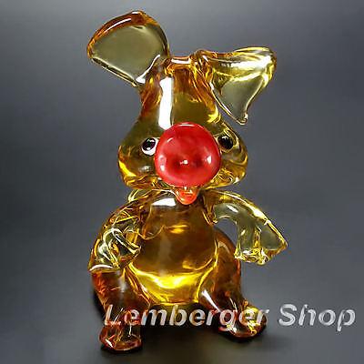 Tierfigur Schwein aus Glas handgefertigte Glasfigur Schönes Geschenk 7 cm hoch