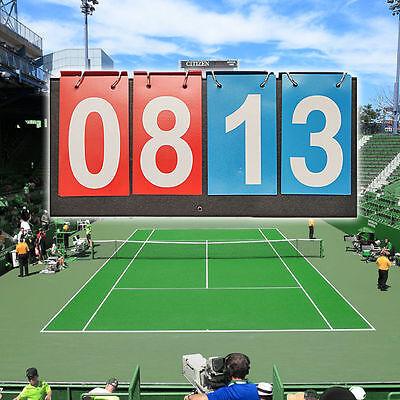 Sports Flip Scoreboard 99 Score Portable Multi-Purpose File Style Accessory noo