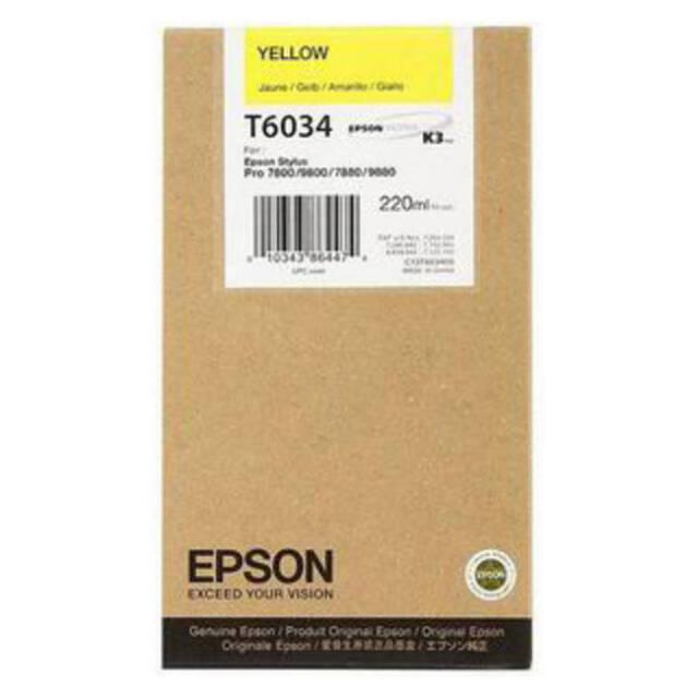 GENUINE EPSON T6034 HIGH CAPACITY YELLOW INK CARTRIDGE (C13T603400)