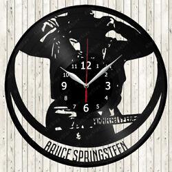 Bruce Springsteen Vinyl Record Wall Clock Decor Handmade 2220