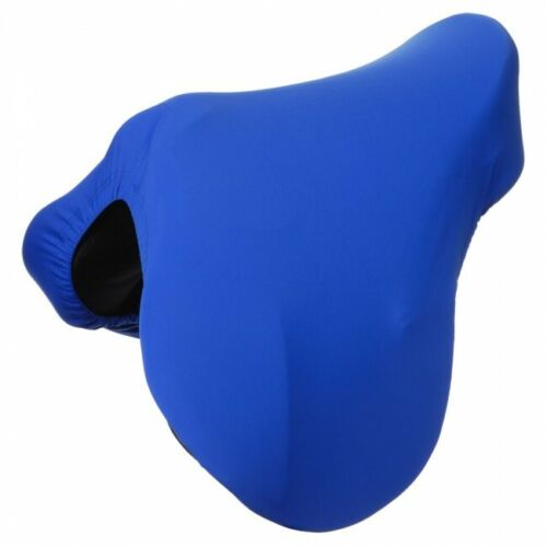 Tough 1 Blue Lined Lycra English Saddle Cover Horse Tack Equine 61-8913