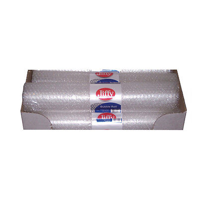 JIFFY BRANDED BUBBLE WRAP ROLL / CLEAR / 500mm x 3m / 20 ROLL PACK / BROC37748