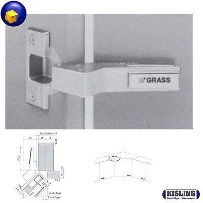 Grass Topfband Scharnier Serie 1116 Aufschiebetechnik Eckschrank Scharnier 45° ()