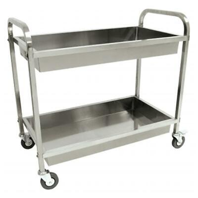Classic Stainless Steel Serving Cart
