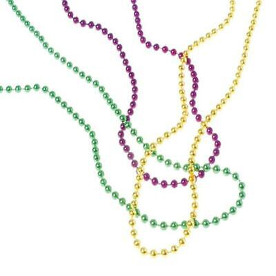 US Toy Company OD440 Mardi Gras Met Bead Necklaces - Pack Of 144 - $24.09