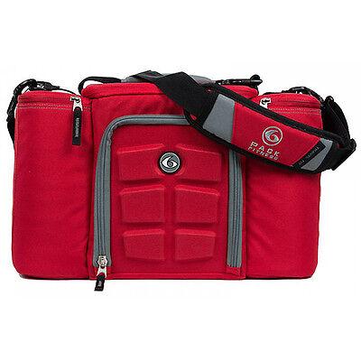 6 Pack Fitness Innovator 300 Meal Management Bag - Red/Gray