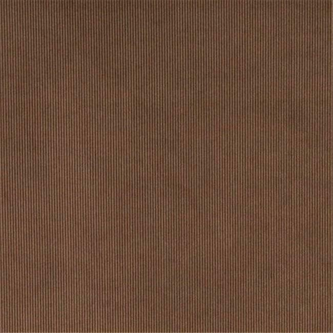 Designer Fabrics C186 54 in. Wide Brown Thin Solid Corduroy Striped Upholster...