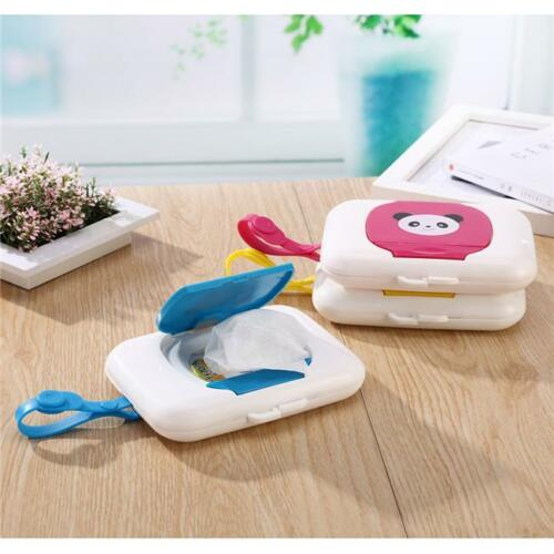 Portable Wet Tissue Box Wipes Dispenser Case Outdoor Tissue Box for Baby Travel red