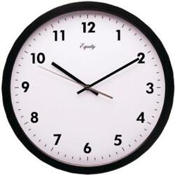EQUITY LACROSSE 25509 14 in. Commercial Wall Clock - Black